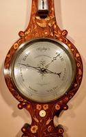Very Rare Victorian Rosewood Inlaid Barometer (6 of 7)