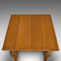 Antique Occasional Table, English, Oak, Side, Wine, Arts & Crafts, Edwardian (2 of 10)