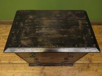 Antique Small Rustic Black Chest of Drawers (15 of 15)