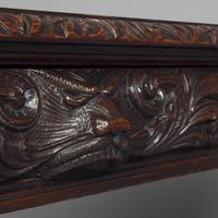 Antique Oak Flemish Writing Table (6 of 15)