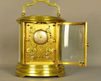 Oval Repeating Carriage Clock with Calendar & Alarm (5 of 10)