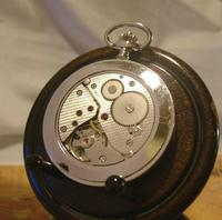 Vintage Pocket Watch 1970s Bravingtons Swiss 17 Jewel Half Hunter & Box Fwo (9 of 12)