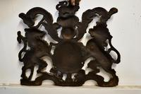 Wall Hanging Victorian Cast Iron Royal Coat of Arms Shield Plaque (7 of 7)