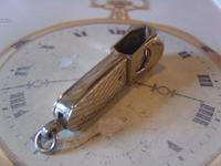 Vintage Pocket Watch Chain Fob 1950s Silver Chrome German Cigar Cutter Fob (7 of 10)