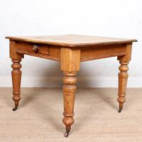 19th Century Pine Dining Table Fitted Drawer (6 of 11)