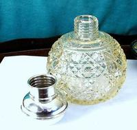 Antique Solid Silver & Cut Glass Scent / Perfume Bottle - Bham 1926 -Marson & Jones (8 of 8)