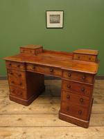 Antique Satin Birch Pedestal Desk by Heal & Sons (4 of 21)