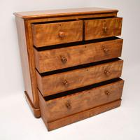 Large Antique Victorian Satinwood Chest of Drawers (12 of 16)