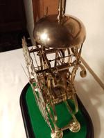 Passing Strike Skeleton Clock. Original Glass Dome (7 of 7)
