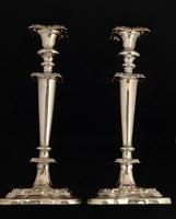 Pair of  Late Victorian Silver Plated Candlesticks (6 of 6)