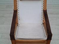 Scandinavian armchair, adjustable back, cowhide, 70s (11 of 20)