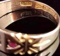 Victorian Ruby and Diamond Ring, Maltese Cross, 15ct Yellow Gold (7 of 12)