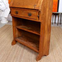 Oak Bureau Arts & Crafts Writing Desk Chest Edwardian Slim (9 of 12)
