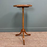 Unusual Victorian Satinwood Jardinière / Side Table (6 of 8)