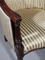 Finely Carved Edwardian Salon or Tub Chair (4 of 5)