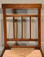 George III Elm Dining Chairs with Rush Seats (7 of 7)