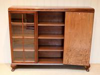 Burr Walnut Bookcase by Heals (6 of 11)
