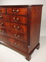 Unusual George III Period Mahogany Chest of Drawers (4 of 5)