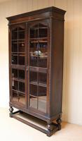 Tall Oak Glazed Bookcase (9 of 10)