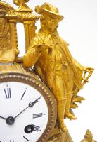 Stunning Quality French Mantel Clock Lady & Lord Figural Mantle Clock. (3 of 9)