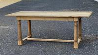 Rustic Bleached Oak Farmhouse Dining Table (18 of 25)
