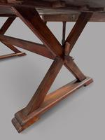 19th Century Topped French Oak Trestle / Dining Table (4 of 5)