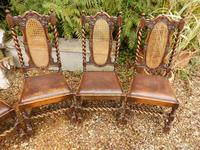 Dining chairs. set of 6, Tudor style (4 of 7)