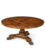 Regency Rosewood Five-foot Tilt-Top Centre Table