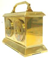 Fine Antique French 8-day Combination Thermometer, Clock & Barometer Carriage Clock Timepiece by Frodsham c.1890 (9 of 10)