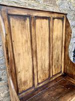 Antique Pine Panelled Box Settle (14 of 16)