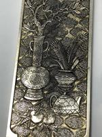 Antique Chinese Solid Silver Zu Yin Hallmarked Scroll Weight Plaques Guangxu (18 of 24)