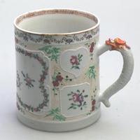 Fine & Unusual Chinese Famille Rose Export Porcelain Tankard 18th Century (3 of 9)