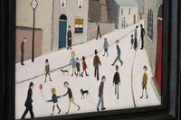 Naive Industrial Street Scene Oil on Board by Walker Scott (7 of 9)
