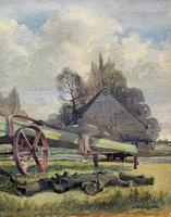 The Green Cart by R.Coleman 1971 - Fine Farmstead Landscape Watercolour Painting (6 of 11)