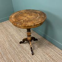 Spectacular Victorian Impressively Inlaid Antique Walnut Sorrento Table (4 of 7)