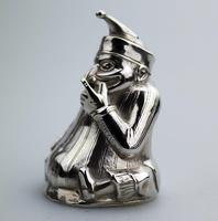 A Rare & Fine Solid Silver Novelty Mr Punch Pepper Shaker William Sparrow C.1903 (5 of 8)