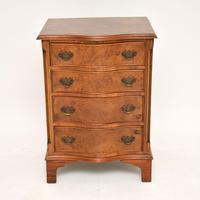 Antique Burr Walnut Serpentine Chest of Drawers (2 of 8)