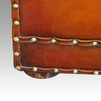 Large Victorian Leather Ottoman (6 of 9)