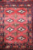 Afghan Red Saddle Bag Cushion Cover (4 of 9)