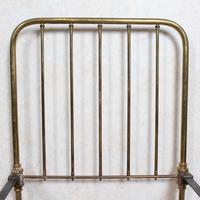 Brass Bed Frame Victorian 19th Century Single Bedframe Cast Iron (5 of 12)