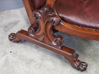 William IV Mahogany and Burgundy Leather Armchair (5 of 12)