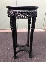 Antique Oriental Chinese Marble Top Stand (6 of 6)