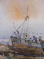 Watercolour & Ink Hastings Boats Listed Artist Valerie Sadler (5 of 10)