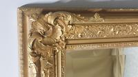 Large English Rectangular  Victorian Gilt Mirror (6 of 8)