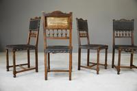 4 French Leather Dining Chairs (12 of 12)