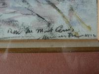 Fernand Laval Rue de Mont Cenis Montmartre Paris 1912 Watercolor Charcoal (4 of 6)