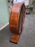 Art Deco Walnut & Ebonised Round Display Cabinet (2 of 11)