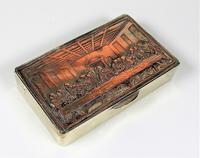 Rare French F Morel Solid Silver Last Supper Scense Lud Snuff Box (4 of 18)