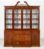 Georgian Style Mahogany Breakfront Bookcase c.1920 (2 of 12)