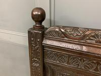 Good 19th Century Carved Oak Bench (7 of 15)